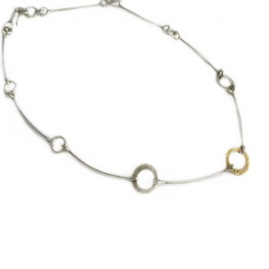 SG93 Sterling Silver & 9Ct Gold Necklace
